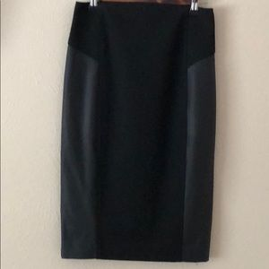 Black blow-the-knee pencil skirt by Express